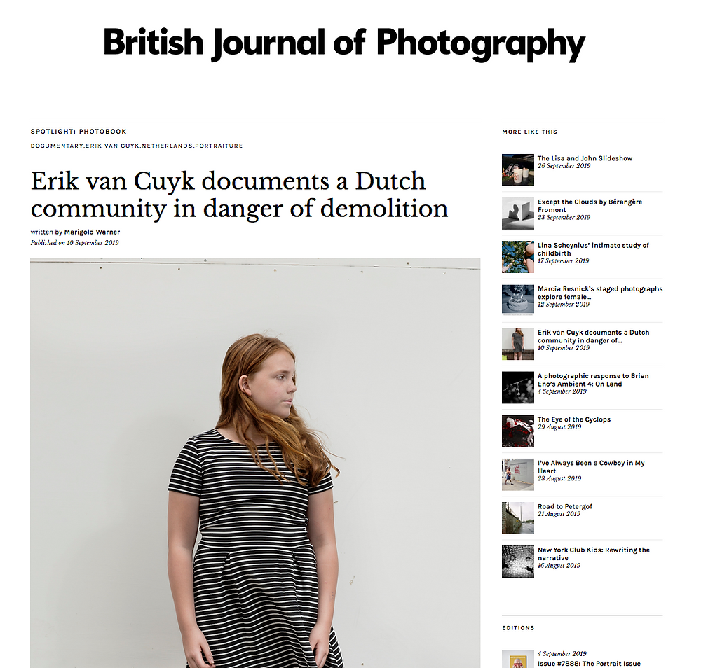 Nederlandse fotograaf uit Arnhem in British journal of photograhy