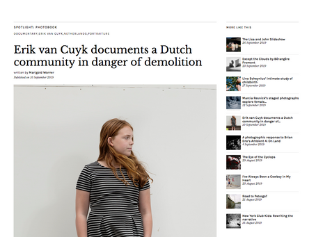 'Rijnwijk'-project in  BRITISH JOURNAL OF PHOTOGRAPHY