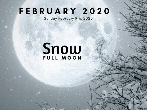 "Full ""Snow"" Moon February 8/9 2020"
