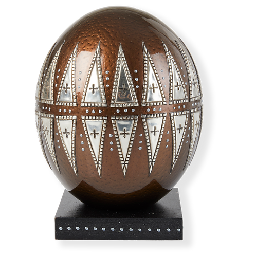 OST EGG WITH PEWTER