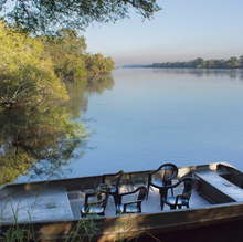 Private pontoon on the river