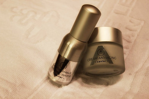 Pack Duo Eau thermale + cream antiaging caviar