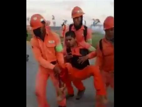 Video.- Reportan enfrentamientos en paro de Dos Bocas