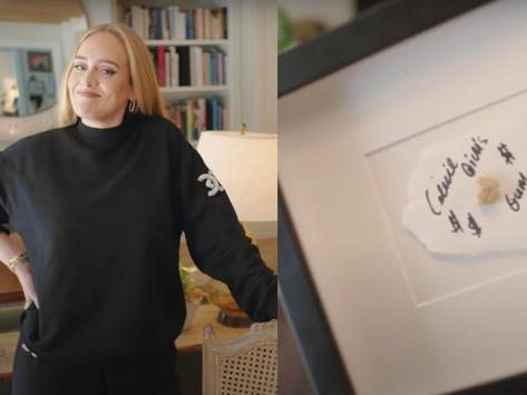 Un chicle mascado por Celin Dion, un 'tesoro' para Adele