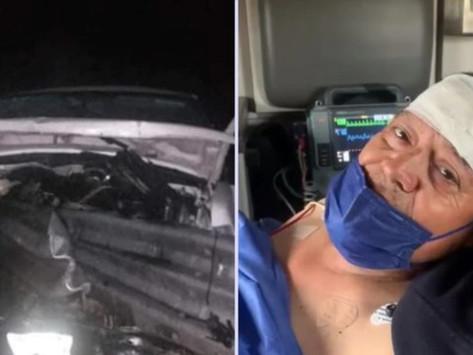 Video.- Sufren fuerte accidente carretero los Cadetes de Linares