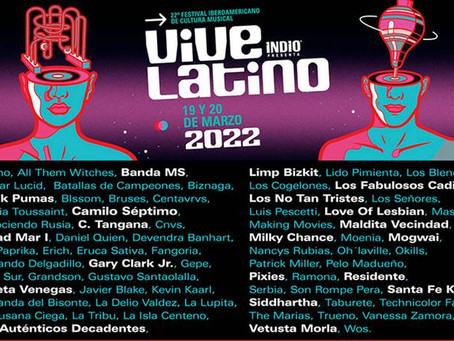 Banda MS al el elenco del Vive Latino 2022
