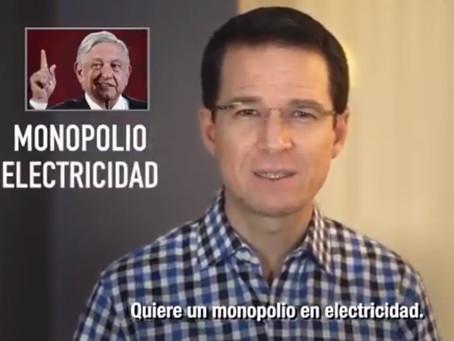 AMLO busca monopolio en electricidad: Anaya