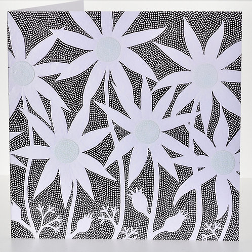 CARD: Flannel Flowers