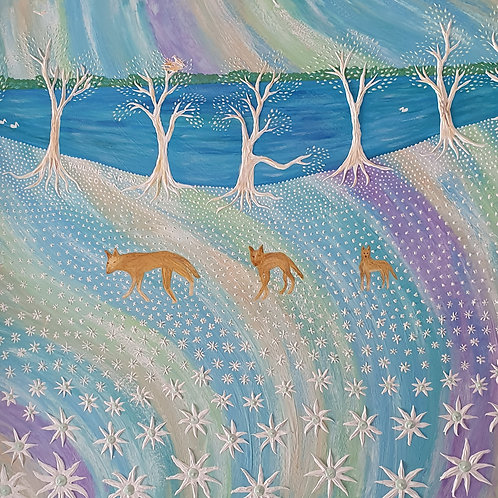 ORIGINAL: Myall Lakes Dingoes & Flannel Flowers