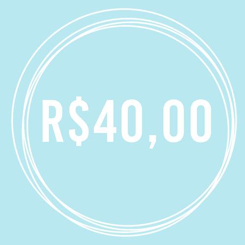 Vale Presente R$ 40