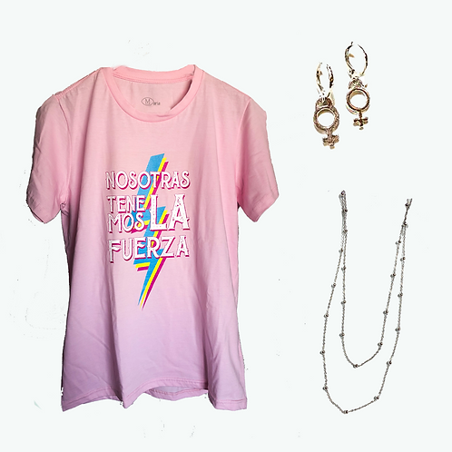 Combo Camiseta +Brinco + Colar