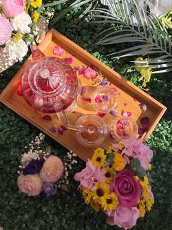 Beautiful tea tray and cupcake flowers