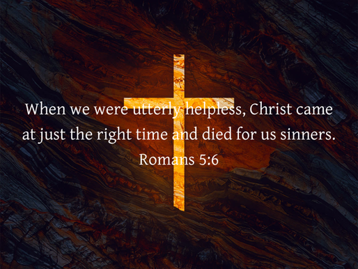 THE CROSS: GOD DID IT ALL FOR US