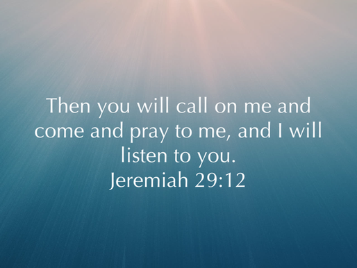 Jeremiah 29:12 (Daily Devotion)