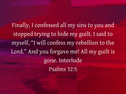 CONFESSING OUR SINS TO GOD