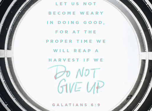 PERSEVERE IN DOING GOOD