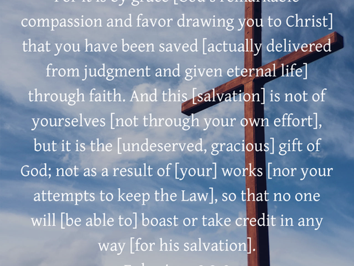 THE CROSS: THE END OF HUMAN EFFORT TO SALVATION