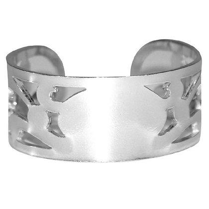 Pierced Pewter Bracelet