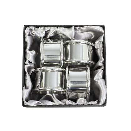 Plain Napkin Rings – Set of 4