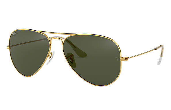 Ray-Ban Gold Framed Unisex Aviators