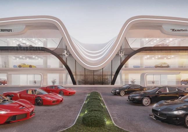 Ferrari Maserati showroom Dubai