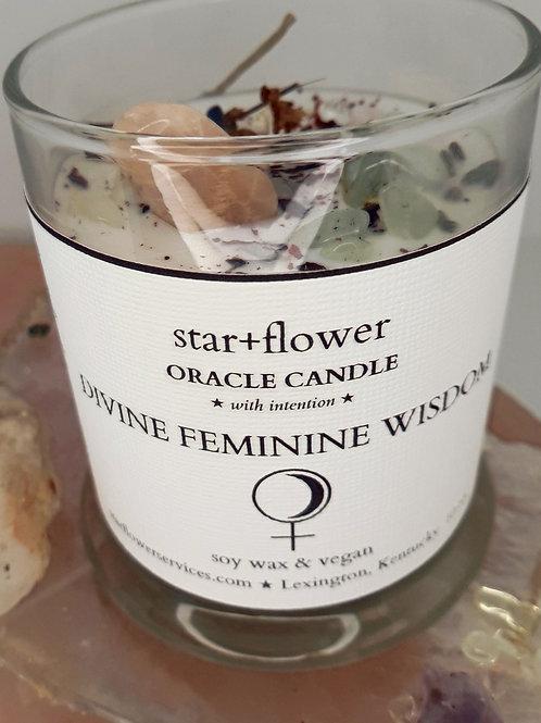 Divine Feminine Wisdom Oracle Candle