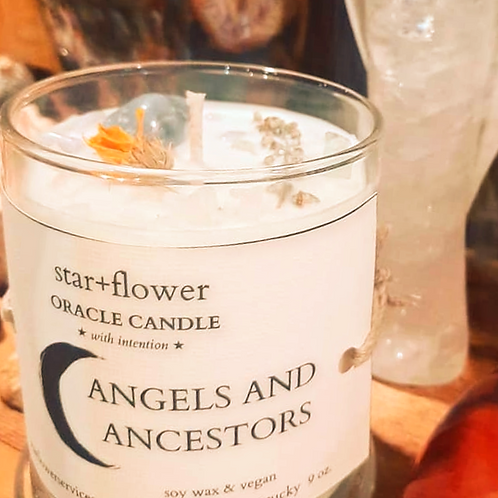 Angels and Ancestors Oracle Candle