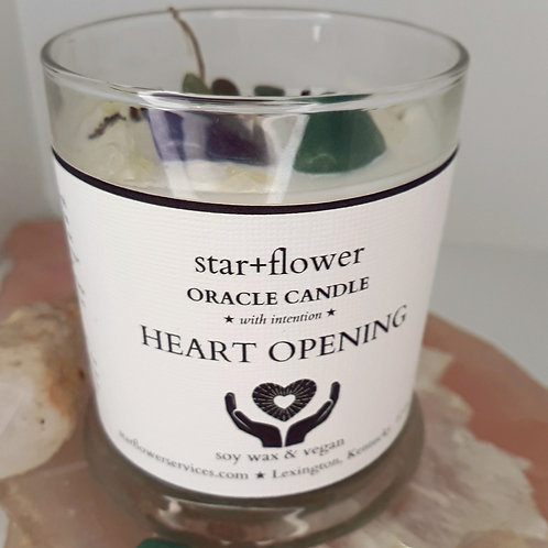 Heart Opening Oracle Candle