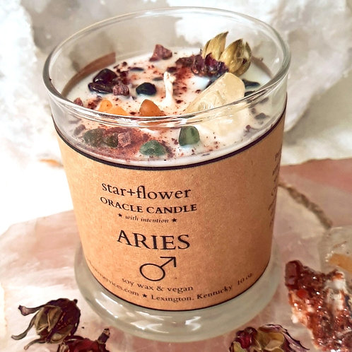 Aries Astro Oracle Candle