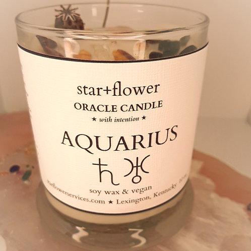 Aquarius Astro Oracle Candle
