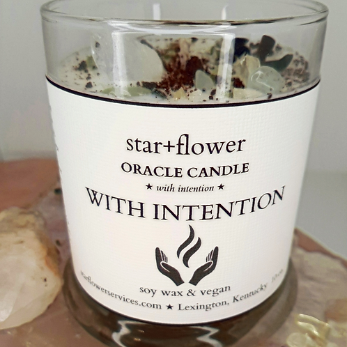 With Intention Oracle Candle