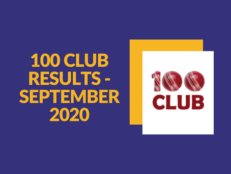 100 Club Results - September 2020
