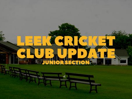 Leek Cricket Club Update - Junior Section