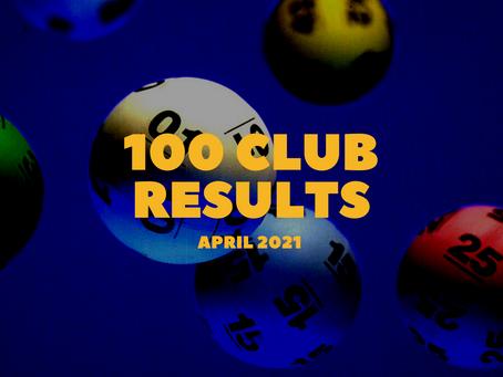 100 Club Results - April 2021