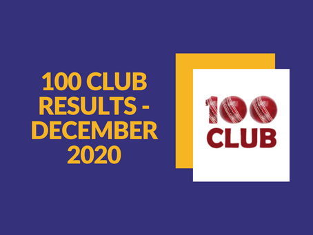 100 Club Results - December 2020
