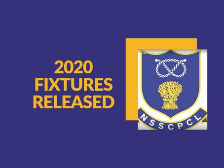 2020 League Fixtures Released