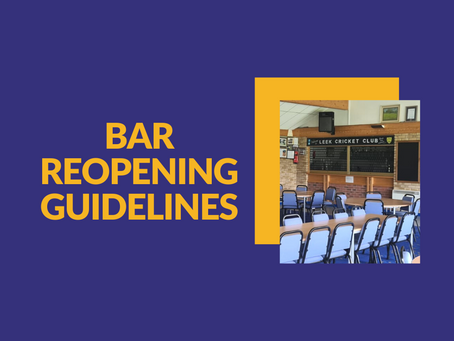 Bar Re-Opening: The Guidelines