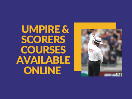 Get Involved - Umpires & Scorers