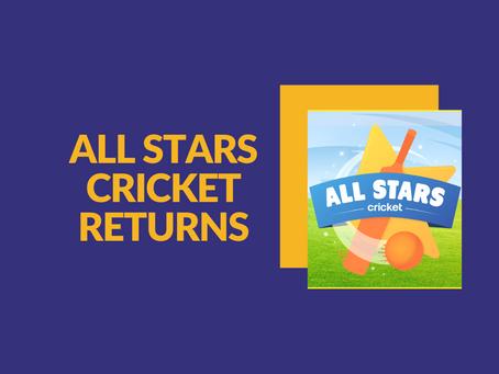 All Stars Cricket Returns