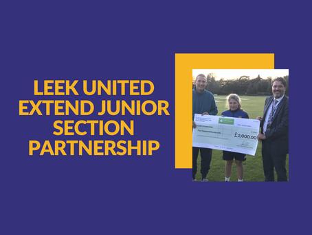 Leek United extend partnership with Leek Cricket Club