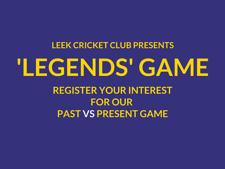Leek 'Legends' Game - Registration