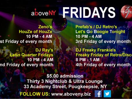 aboveNY Fridays @ Thirty 3 Nightclub & Ultra Lounge in Poughkeepsie, NY