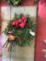 Custom wreaths available at The Farms at Pine Tree Barn Christmas Workshop