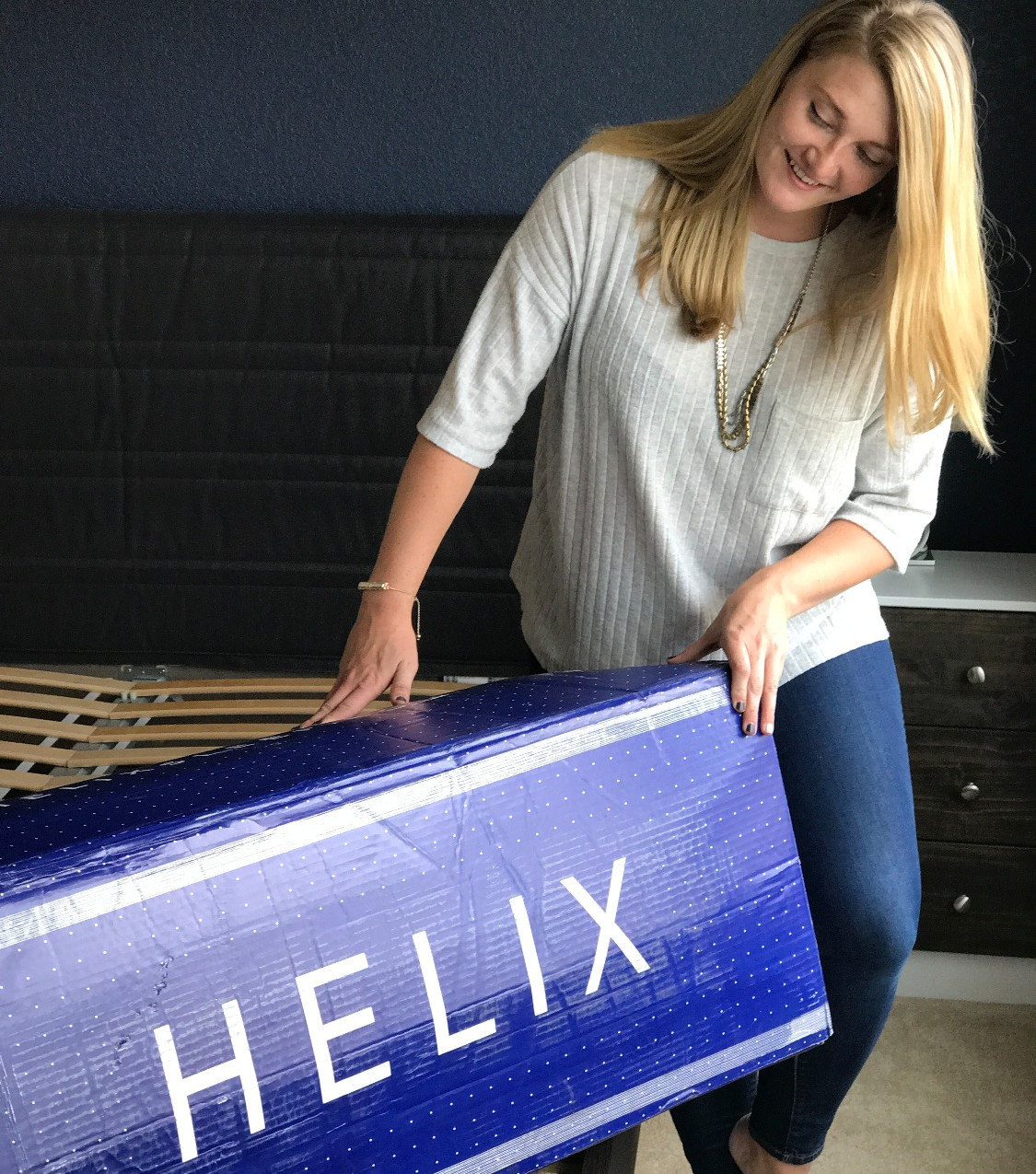 Bites with Bre Unboxing Helix Mattress