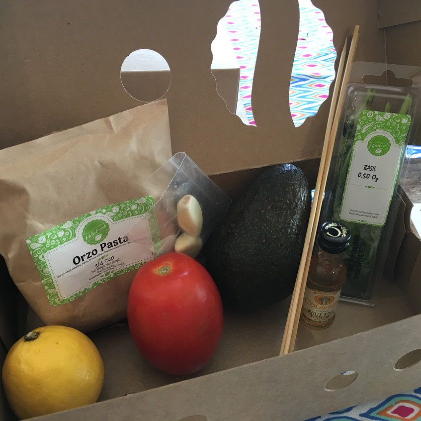 Inside view of the recipe box