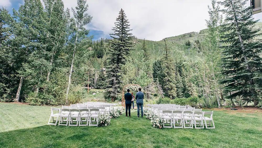 Wedding ceremony set up for Grand Hyatt Vail