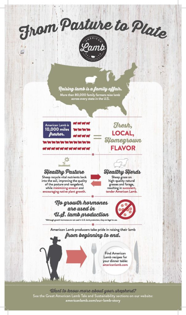 Pasture to Plate Infographic from American Lamb Board