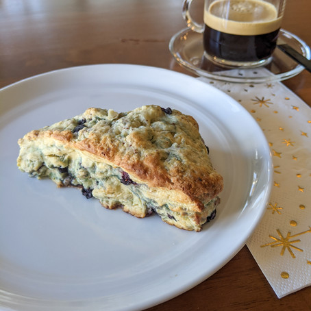 Wild Blueberry Scones: Healthy and sweet