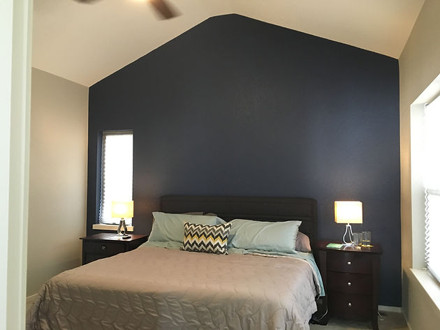 Navy Blue Master Bedroom | Not so Nautical | Denver Foodie | United ...