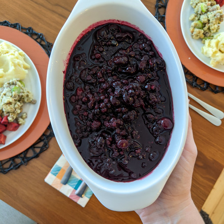 Wild Blueberry Cranberry Sauce for the Holidays